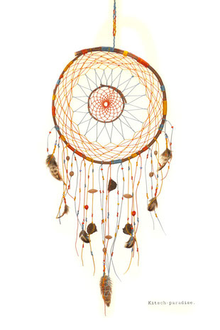 Kitsch, paradise, artisan, créateur, macramé, art, nature, attrape rêves