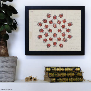 #kitsch #paradise #artisan #créateur #linogravure #art #dessin #nature #mantra #papier #peint #mandala