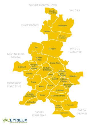 Territoire de la communauté de communes Val'Eyrieux
