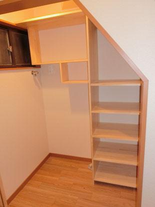 ケイプラスの施工事例〜階段下を有効活用する整理収納のアイデア