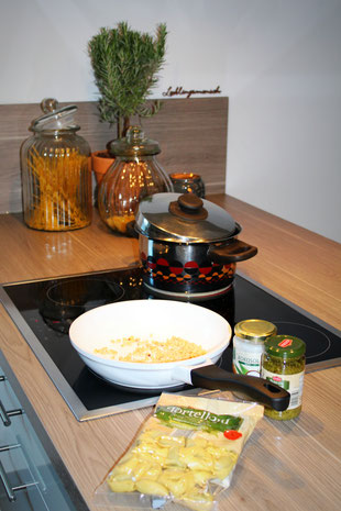 Tortellini , grüne Bohnen, Rezepte für Kinder, Superfood, gesund Essen, Pesto