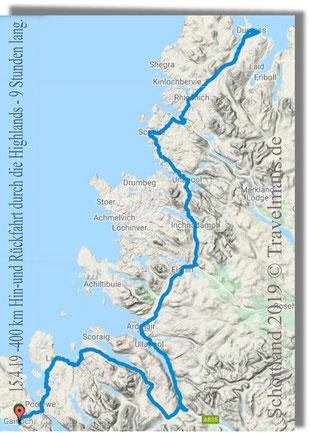 400 km Panoramafahrt durch die Highlands - 9 Stunden lang.