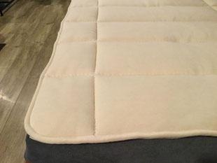 羊毛100%のベッドパッド・ドイツ製ビラベック社のボゥルフ