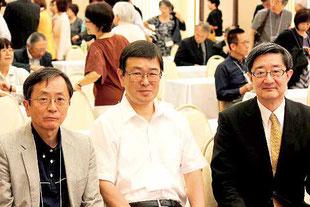 新旧会長と高田元校長先生