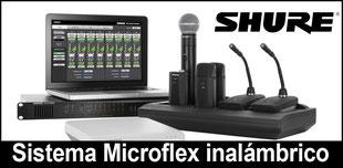 shure microflex, microfonos