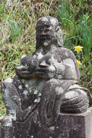 長野県 大法寺 羅漢石像
