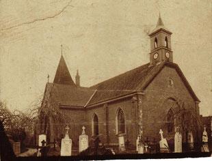 Neubau der Leezener Kirche 1870