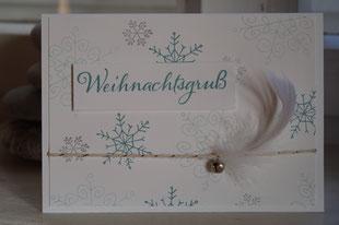 """Karte mit """"Weihnachtstrio"""" und """"Wünsche zum Fest"""" von Stampin´Up!"""