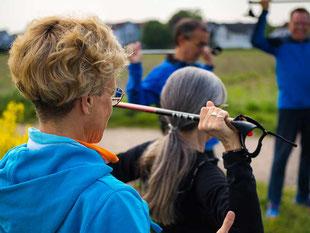 Zertifizierter Präventionskurs Nordic Walking im Wald