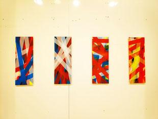 Santhe Hauser in der Galerie SEHR POP UP-Ausstellung