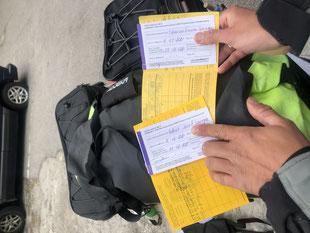 Erst mit dem Stempel im Pass können wir es glauben :-)