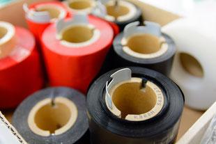テープとインクリボンをセット