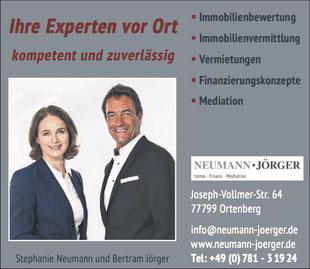 Neumann-Jörger • Tel. 0781 3 19 24