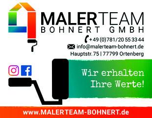 Malerteam-Bohnert, Hauptstr. 75, 77799 Ortenberg