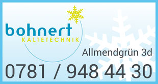 Bohnert Kältetechnik GmbH, Allmendgrün 3d, 77799 Ortenberg