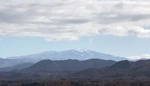 初冬の白山連峰