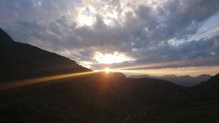 Ein prächtiger Sonnenuntergang im Oberberg (05.08.2019)