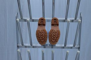 長靴の靴底が確認できる長靴ラック