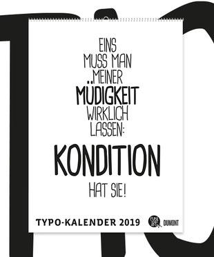 DuMont Typokalender 2019 FUNI SMART ART