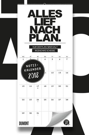 FUNI SMART ART Notizkalender 2018 mit lustigen Sprüchen
