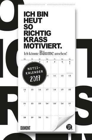 FUNI SMART ART Notizkalender 2019 mit lustigen Sprüchen