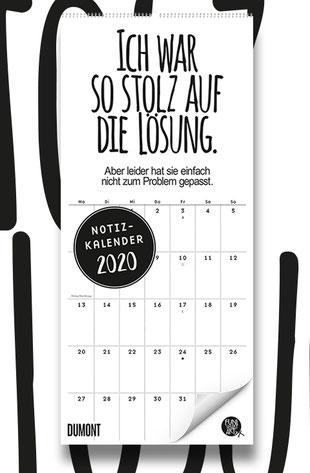 FUNI SMART ART Notizkalender 2020 mit lustigen Sprüchen