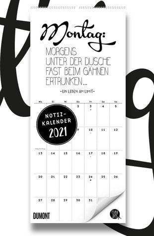 FUNI SMART ART Notizkalender 2021 mit lustigen Sprüchen