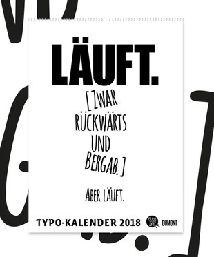 DuMont Typokalender 2018 FUNI SMART ART