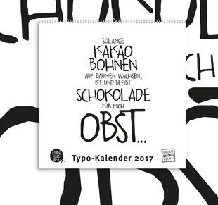Kleiner Typokalender 2017 mit lustigen Sprüchen