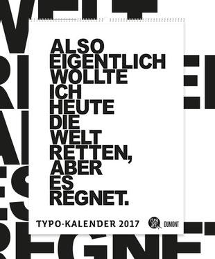 DuMont Typokalender 2017 FUNI SMART ART