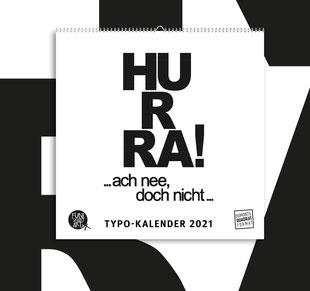 Kleiner Typokalender 2021 mit lustigen Sprüchen