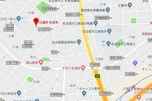 本成寺の地図