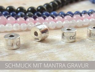 Ketten mit Silberanhänger und Gravur
