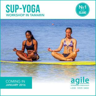 SUP-Yoga in Mauritius
