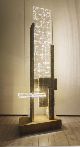 scultura, luce led, girl, celesteprize