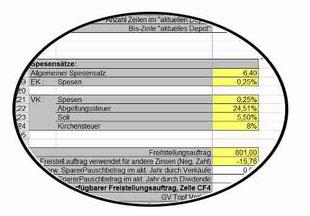 Bild: Parameter Einstellungen