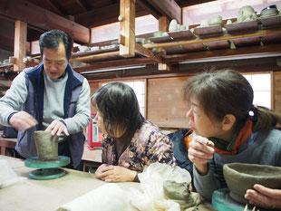 奈良シニア大学赤膚焼体験