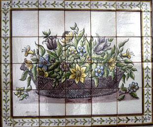 """Sommerblumen im Korb"" Art.-Nr.: PN-102, Größe: 79x65cm"