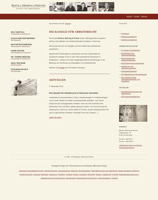Website bmp-arbeitsrecht.de