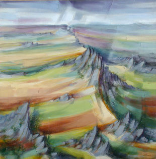 ROC' H TREVEZEL (huile sur toile) 80 x 80 cm JF.Millan