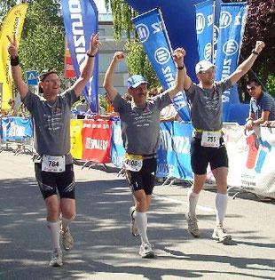 Zieleinlauf 100 Kilometer von Biel 2009.