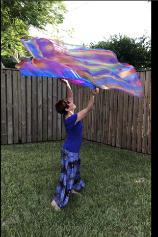 Silk flags with rich, vibrant color