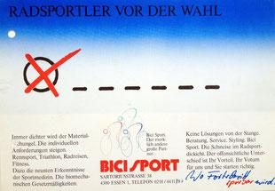 Eine Werbeanzeige aus dem Bundestagswahljahr 1987