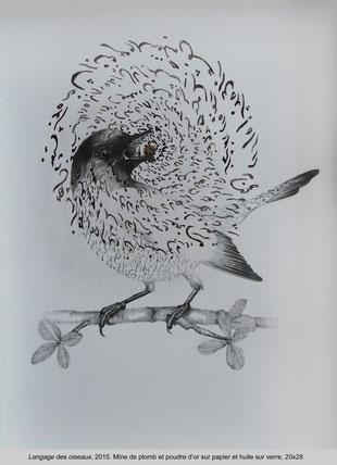Katayoun Rouhi - Langage des oiseaux - 2015 - 20x28