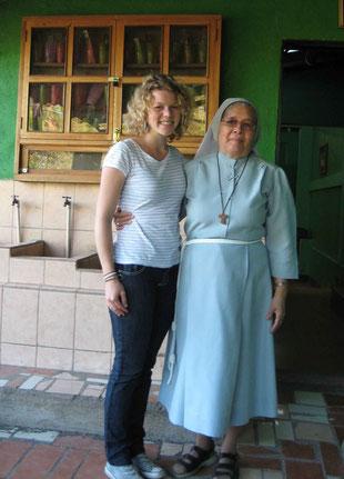 Con la hermana Angela - Mit der Schwester Angela