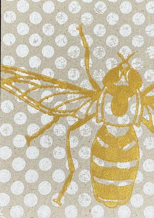 Merry Christmas Postkarte Graspapier