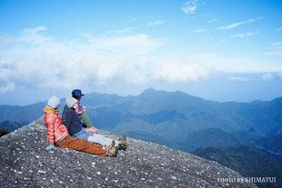 標高1235m愛子岳を眺める,太忠岳,ガイドツアー,屋久島,10月