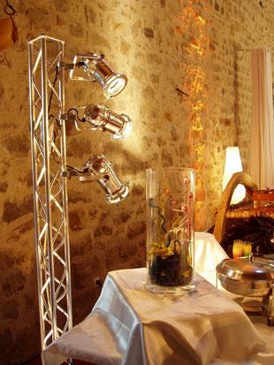 Projecteur semi-directif pour éclairages de buffets