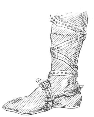Wie wird ein Sporn in der Antike getragen
