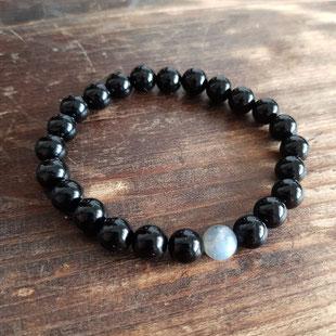 bracelet homme labradorite onyx